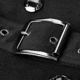 Y-766方法黒の冬の軍のウールの女性長い夜会服