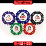 установленные обломоки покера глины 760PCS/обломоки казина глины кроны установленные для играя в азартные игры игры с алюминиевым случаем (YM-SGHG004)