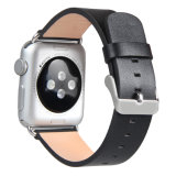 Conception simple Unisex lisse Bracelet en cuir véritable pour Apple Watch