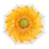 花によって印刷されるPoeまっすぐに屋外の安く明確なRainumbrella