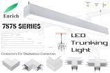 2018 caldo! Indicatore luminoso lineare sospeso della camera di equilibrio del LED per l'ufficio, supermercato, magazzino