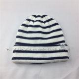 Plaine Chapeau tricoté avec des étiquettes personnalisées, Custom POM POM Beanie Hat