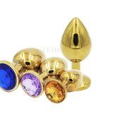 مصغّرة حجم نوع ذهب معدنة مجوهرات بلّوريّة شرجيّ طرف عبث سدادة, شرجيّ فتحة بئر جنس موقف [70إكس28مّ] بالغ جنس لعب منتوجات
