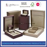 Caixa de jóia de papel feita sob encomenda para presentes do anel/bracelete/pendente/colar/pulseira