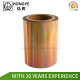 Documento genérico de la aplicación de la lámina de estampado de arco iris