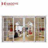 Европейский классический стиль дешевые цены стекла боковой сдвижной двери с помощью шаблона