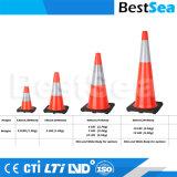 安全のための卸し売り良質オレンジ流れる基礎PVCプラスチックトラフィックの円錐形