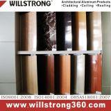 Cor de madeira de PVDF Revestimento de parede em alumínio para fachadas exteriores outdoor