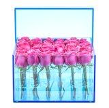 De goedkope Doos van de Gift van de Prijs Populaire Transparante Acryl voor Roze Bloemen