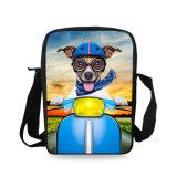 子供の女性の偶然の動物園動物プリント十字ボディかわいいSharpeiハスキーな犬のメッセンジャー袋の男の子の女の子の通学かばんのための小さいショルダー・バッグ