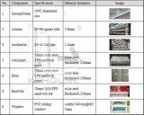 Frame feito/de aço pronto provisório/baixo custo/montado/China/toaletes portáteis