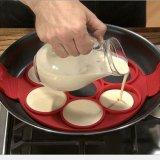 食品等級の焦げ付き防止のシリコーンの円形の卵のリング型