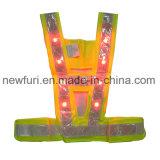 En 471 LED piscante OEM colete de visibilidade colete reflector