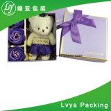Rectángulo de regalo de lujo de la cartulina del papel de rectángulo de joyería para empaquetar