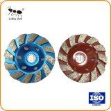 Rouge et Bleu Metal roue de la Coupe du diamant pour le béton, l'étage, Rue Pierre naturelle