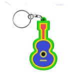 Kundenspezifischer nette Karikatur Gummi-Belüftung-Schlüsselring Keychain