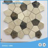 Плитки & картина мозаики мрамора зеленого цвета скачками формы