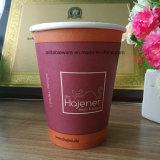 Одноразовые изоляции одностенного горячий кофе чашку бумаги 10oz