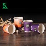 Custom от поддающихся биохимическому разложению PLA кофе с насечками одноразовые контейнеры бумаги