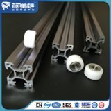 Perfil de aluminio de plata anodizado para el transportador