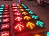 Sinal do diodo emissor de luz cheio da esfera & da seta/sinal de tráfego para a entrada de automóveis