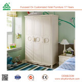 Wardrobe de venda quente da madeira contínua da mobília européia clássica do quarto do estilo