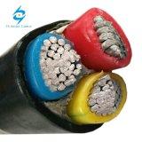 Cable del cobre de la baja tensión/de aluminio del conductor XLPE en cable de transmisión