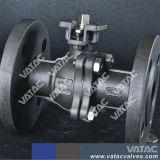 Accionado por palanca de acero forjado R. F completa de extremos de la válvula de bola flotante de puerto