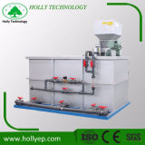 Réservoir de mélange de poudre chimique avec le système de dosage automatique