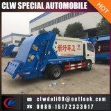 4*2 LHD o carro de basura de Rhd, carro de basura del compresor de 5 Cbm para la venta caliente