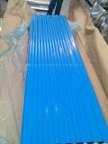 750mm después de 665mm de ancho de hoja de techos de cartón ondulado de color