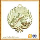 Medalla de oro de la meta del fútbol del balompié