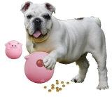 Primeira esfera Lanç-Esperta global do deleite do cão do Wobbler do porco do vinil - edição cor-de-rosa