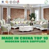Conjunto europeo del sofá del cuero genuino del diseño de Chesterfield