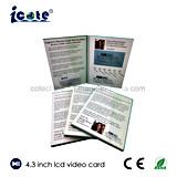베스트 셀러 4.3 인치 스크린 사업 광고를 위한 영상 브로셔 또는 비디오 카드