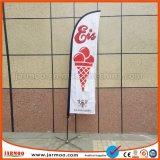 Praia de impressão personalizado ao ar livre bandeira de penas