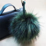 Raccoon reale del Pompom della pelliccia del Raccoon della catena chiave della pelliccia POM di modo
