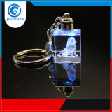 Design exclusivo Christmasgift Jyg K9 LED de vidro cristal Chaveiro