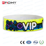 Bracelet fait sur commande d'IDENTIFICATION RF de Tyvek pour des événements de VIP