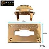 Blocage léger en métal de blocage de sac de couleur d'or de qualité (8756)