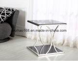 La placcatura di bicromato di potassio incornicia il tavolino da salotto moderno di vetro dell'acrilico LED dello specchio