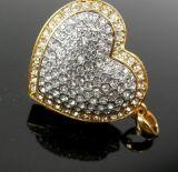 Movimentação do flash do USB da forma do coração da jóia (OM-C116)