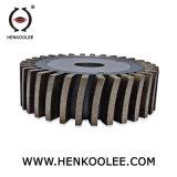 Tamanho personalizado disco abrasivo de ferro da roda de slot de moagem de Diamante
