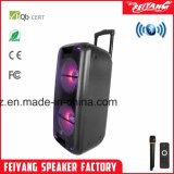Gabinete de luz LED Sony popular de gran potencia del altavoz portátil Bluetooth Trolley12 pulgadas F210-09