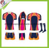 Nueva rugbi sublimado Jersey de la camisa del rugbi del diseño aduana para los hombres