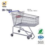 Ge80A 80L Metalleinkaufen-Laufkatze für Supermarkt