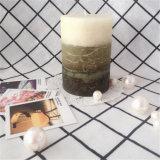 緑のタケにおいは贅沢な装飾のためのクラフトの蝋燭を層にする