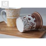 Cuvette de café de porcelaine de la forme 11oz d'Evase/cuvette populaire de promotion