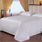 病院用ベッドのリネン綿の組合せの縞の寝具は安い敷布をセットする