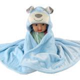 La flanelle de phoques à capuchon Kids peignoir pour bébé